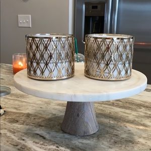 Set of 2 bath and body works candle holders